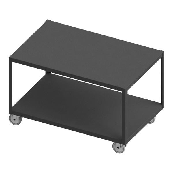 DURHAM HMT-3048-2-4SWB-95, High Deck Portable Table, 2 shelves