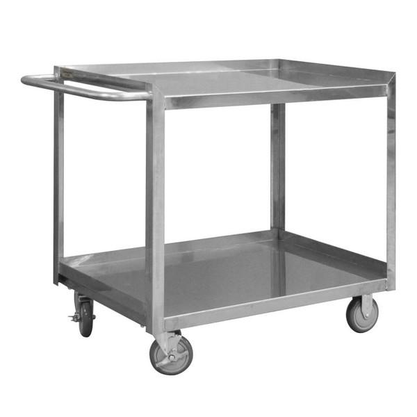 DURHAM SRSC1624362FLD5PU, Stainless Steel Stock Cart, 2 shelves