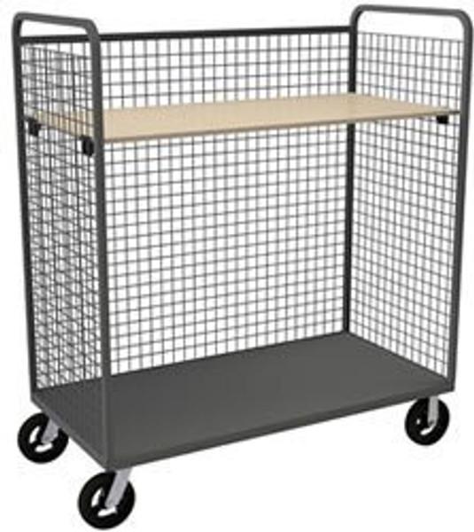 DURHAM W3ST-306068-1AS-8MR95, Wire Cart, 1 adjustable shelf