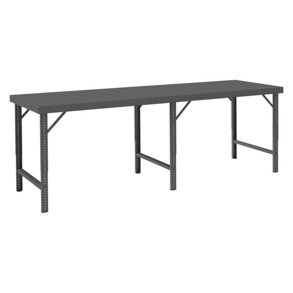 DURHAM WBF-30120-95, Folding Leg Workbench, steel top