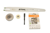 """14"""" Bar 1/4 Pitch Micro 71PM3 Chain Conversion Kit For Stihl Ms 192T, 1137 640 2009 New Oem"""