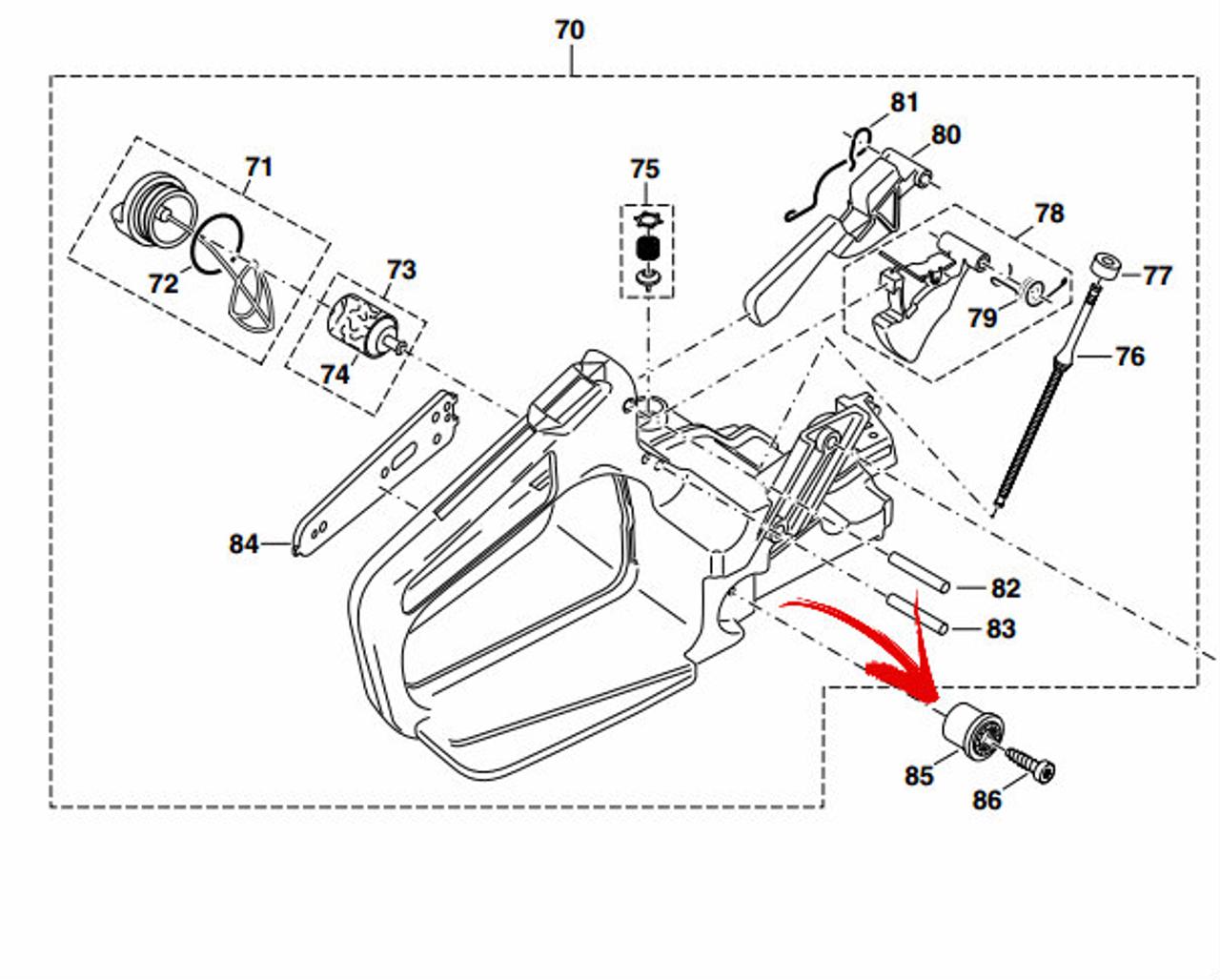 109 // PS43 // PS420C mit 38cm B f Dolmar Sägekette 512484764 325 1,3mm 64E z