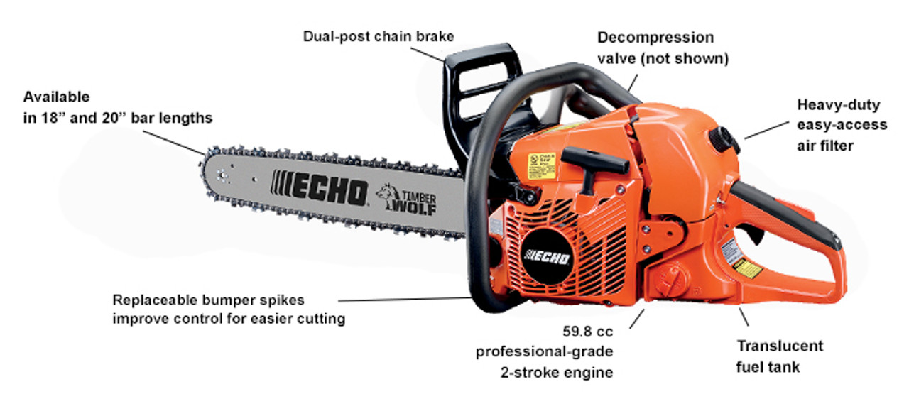 "ECHO CS-590 TIMBER WOLF 20"" CHAINSAW"