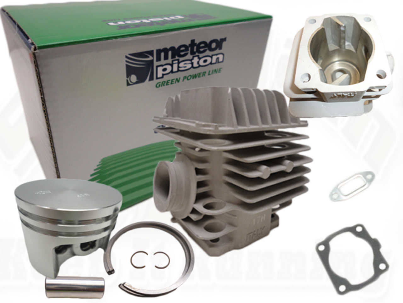 METEOR BRAND CYLINDER AND PISTON REBUILD BASE KIT FITS STIHL MS 200T NEW 11290201202