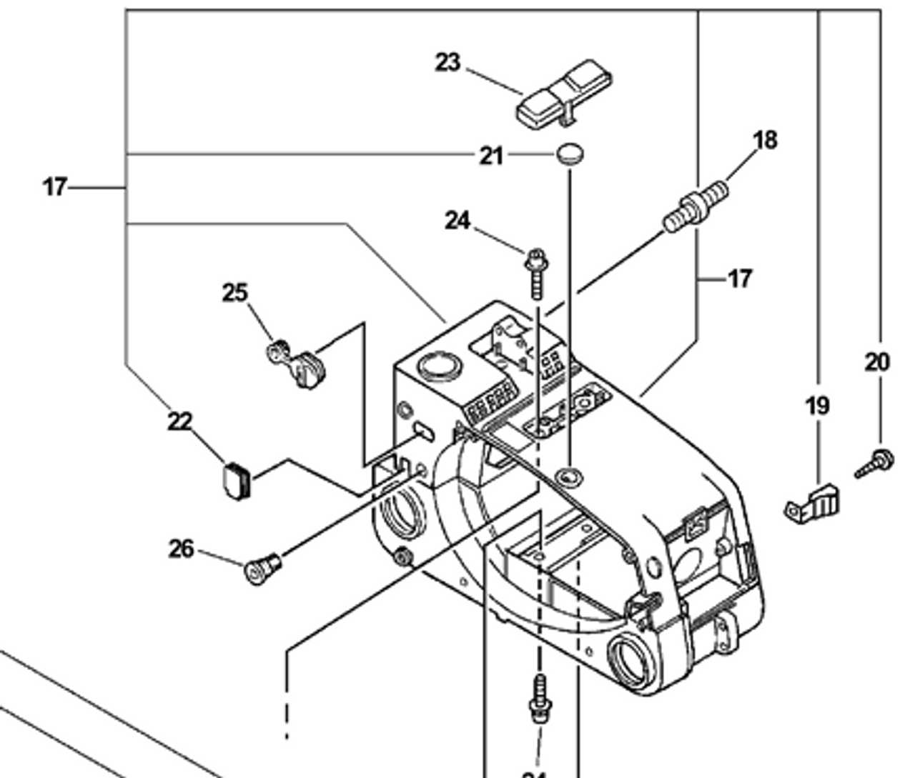 echo 3000, 3400 fuel and oil tank engine housing new oem 10400439233 housing typologies engine housing diagram #14