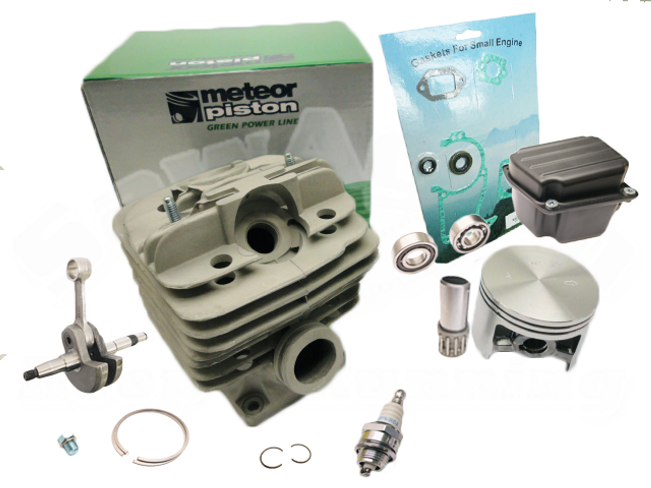 METEOR BRAND NIKASIL CYLINDER AND PISTON RINGS ASSEMBLY ADVANCED KIT FITS STIHL 036 MS 360 NEW