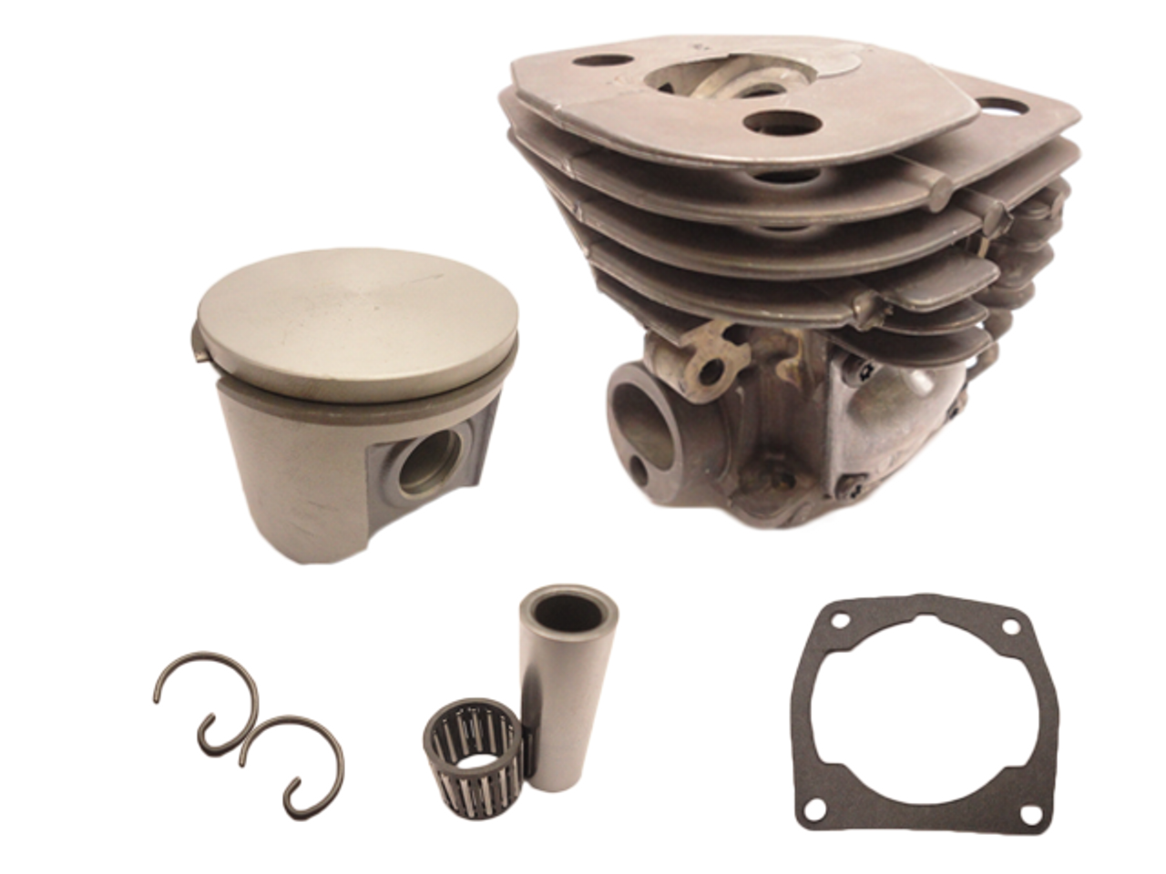 OEM 47M Nikasil Plated Cylinder Kit With Rings Fits Husqvarna 357, 359, Jonsered 2156 And 2159 537157302