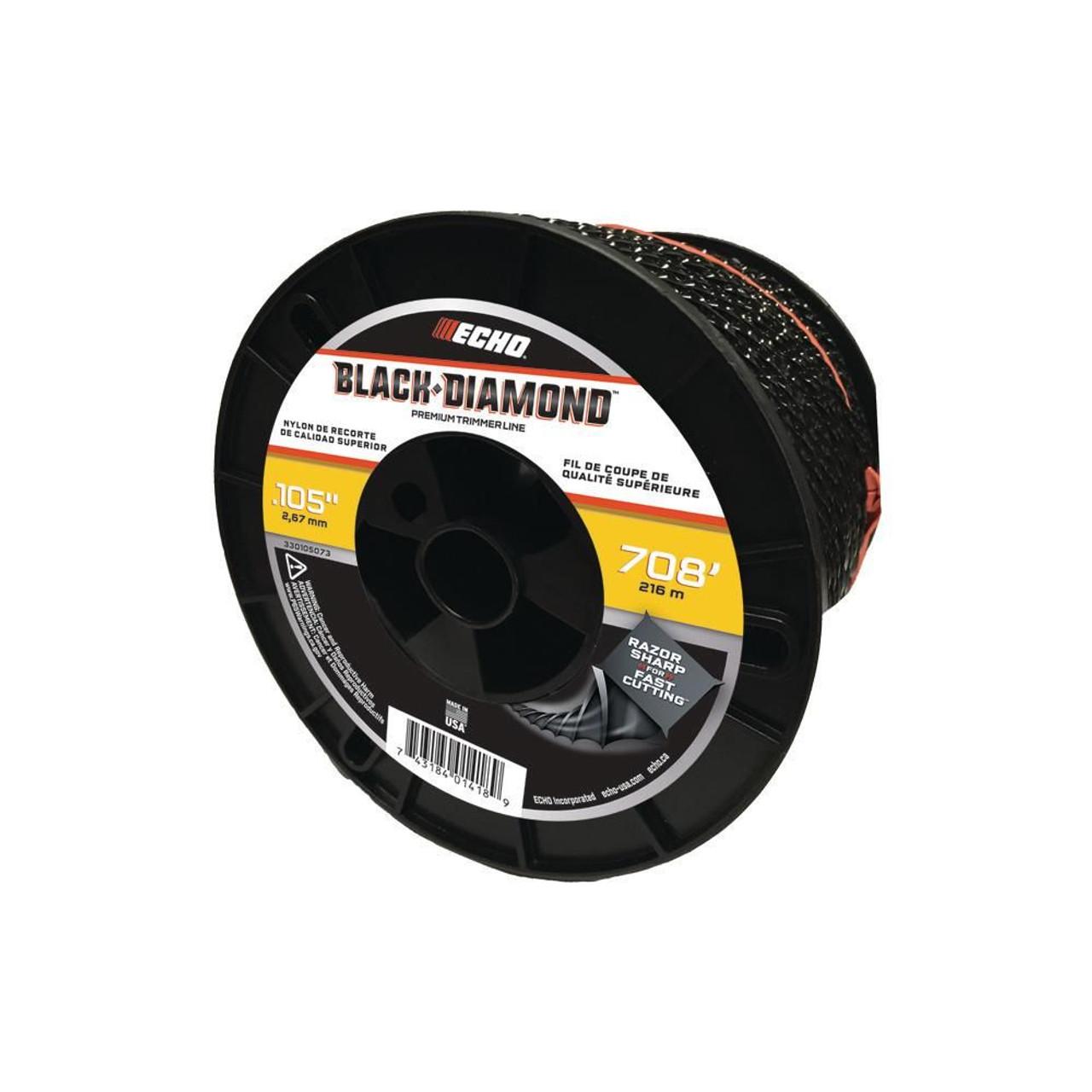 Echo Srm, Gt, .105 Black Diamond Trimmer Line 708 Feet 3lb spool, Professional Grade 330105073