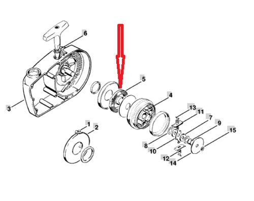 Stihl 041, 042, 045, 056, Chainsaw Flywheel Recoil Starter