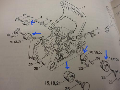 Stihl 066 Ms 660 Replacement Av Rubber Buffer Mount Kit New