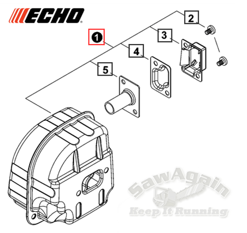 Echo Cs-490 Muffler Assembly New Oem A030000830