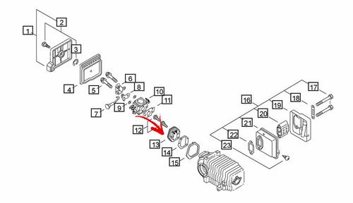 Echo Cs-300, Cs-301, Cs-305, Cs-306, Cs-341, Cs-3000, Cs-3400, Cs-34500  Insulator New Oem P021000010