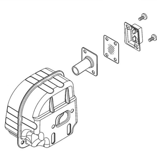 Echo 501P Muffler New Oem P021048660