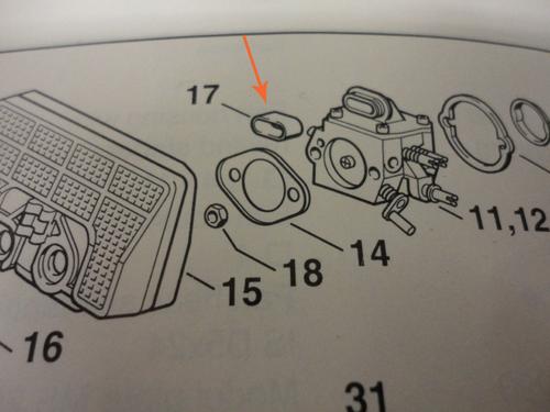 Stihl 029, 310, 390, 044, 046, 064, 066, Ms 440, 460, 660 Carburetor To Air Filter Bushing 11241219100 New Oem