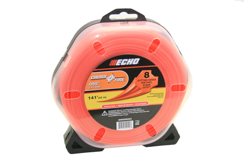 Echo Srm, Gt, .095 Cross Fire Trimmer Line 1/2 Pound 141 Feet Professional Grade 306095053