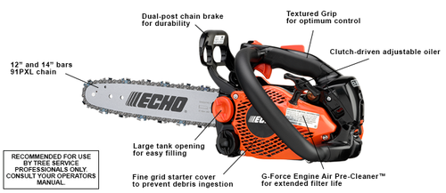 "Echo Cs-2511T 12'' Chainsaw New 1/4"" Custom Setup"