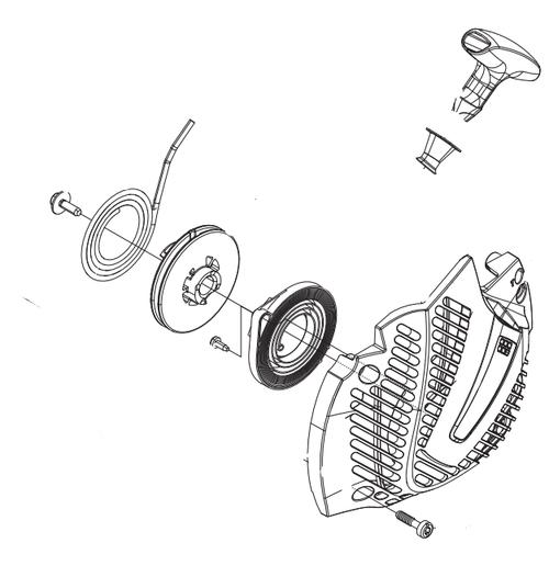 Jonsered Cs2245 Recoil  Starter Assembly New Oem 502300602