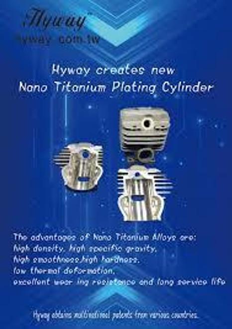 Titanium Hyway 54Mm Big Bore Kit Cylinder Piston Ring Assembly Fits Stihl 046, Ms 460, 11280201221