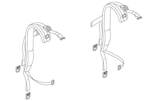 Echo 9010H, 9010T Backpack Blower Harness Combo Strap Right and Left, New Oem P021053650, P021053640