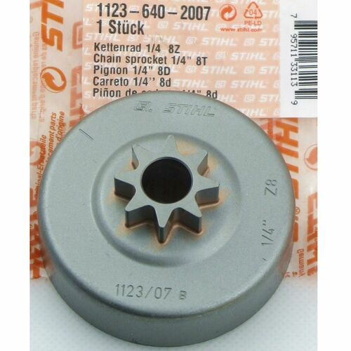 Stihl 018, Ms 180, Ms 191t, MS 171, Ms 181, Ms 251, Ms 241, Ms 231 1/4 Pitch Qtr  Clutch Drum Chain Sprocket New Oem 11236402007