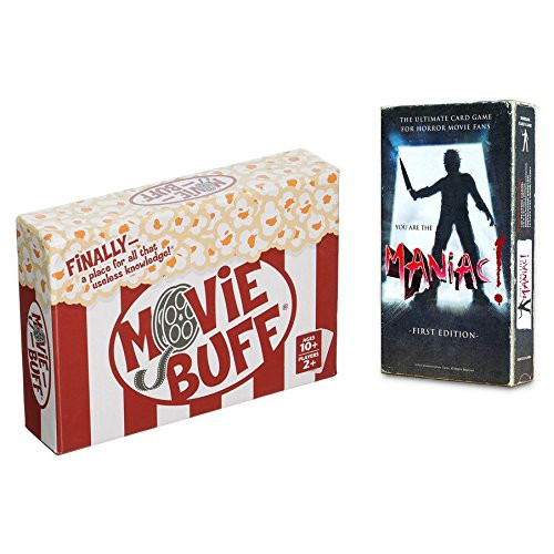 Movie Lovers Party Game Pack - You Are the Maniac! and Movie Buff