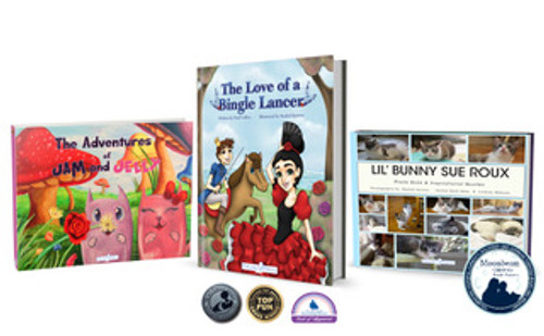 Award Winning Book Box: The Love of a Bingle Lancer, Lil Bunny Sue  Roux & The Adventures of Jam and Jelly