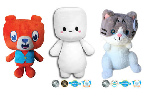 Stuffimals Bundle: Benny Bear, Marshfellow & Lil Bunny Sue Roux Plush