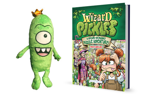 Wizards Choice Bundle: Wizards Pickle Puzzle Book & King Pickle Plush