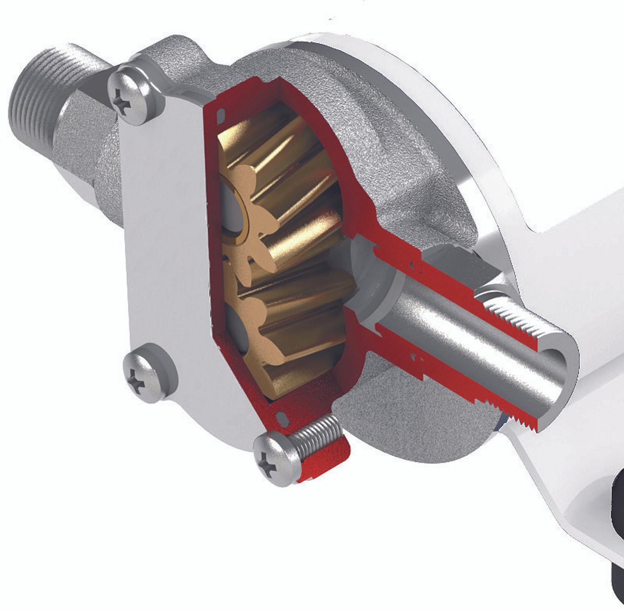 12 Volt gear pump for motor oil or diesel fuel