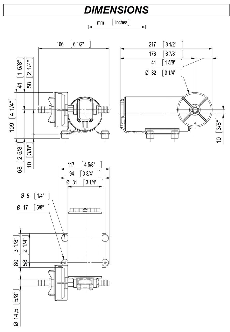 GP-303 Dimensions