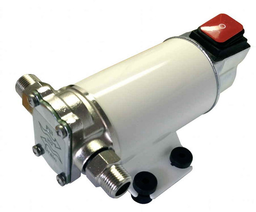 4 GPM GEAR PUMP 12V FOR WATER OR DIESEL FUEL WITH ON/OFF SWITCH AND FUSE (GP-301S-12H)