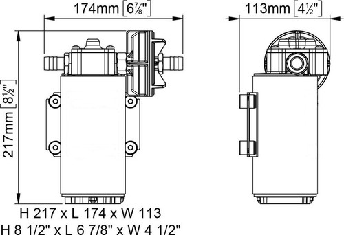 GP-612 dimensions