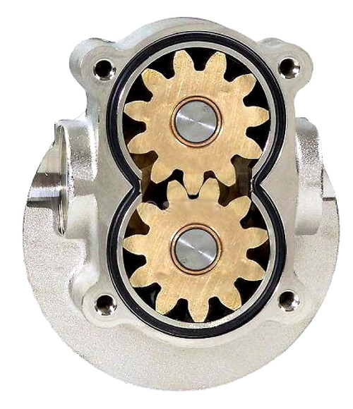 Gear pump for oil and diesel fuel