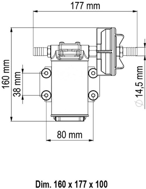 Stainless pump dimensions