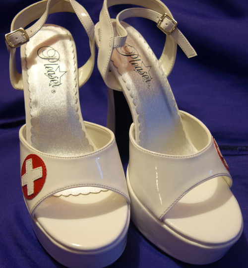 Pleaser Sexy Heels Nurses Costume Shoes