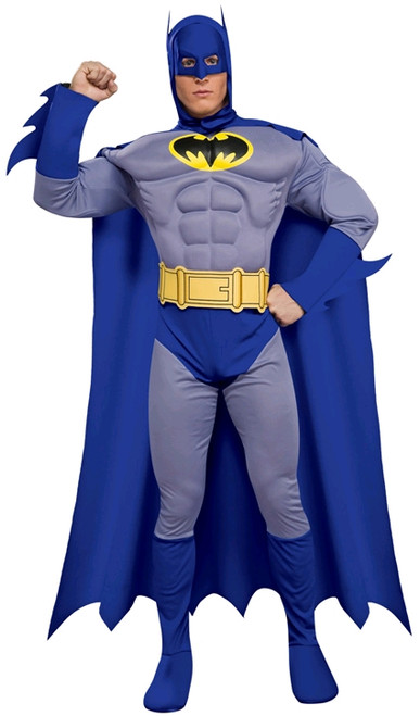 For Hire - Blue Retro Musclechest Batman