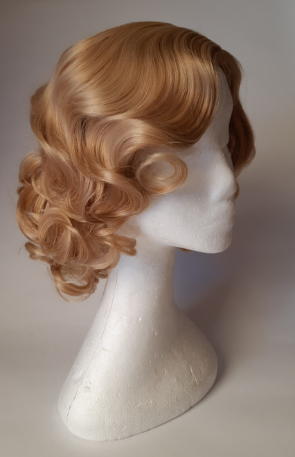 Dark blonde Fingerwave Flapper Wig for Hire