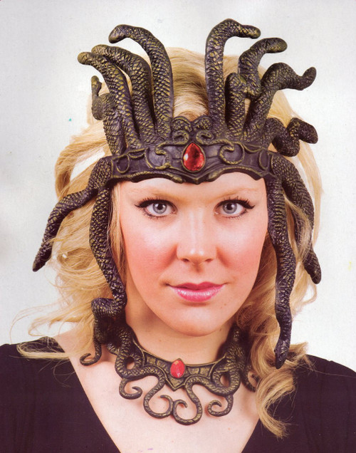 Latex Snakeskin Medusa Headdress and Necklace
