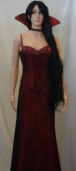 Blood Red Bodice Vampire Vampiress Costume