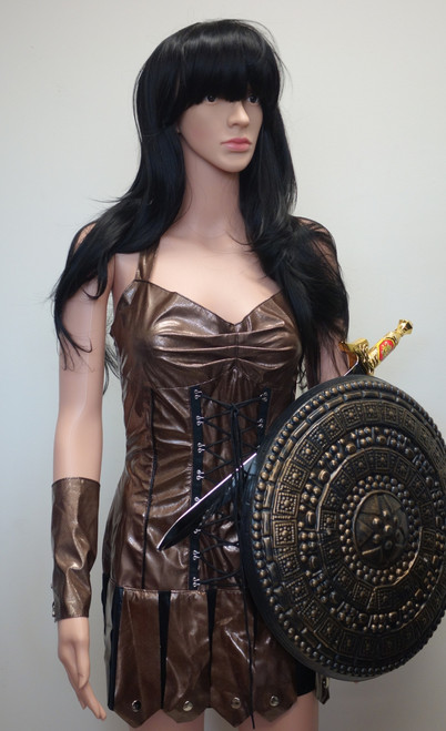 Xena Warrior Princess Costume for Hire from The Littlest Costume Shop, Melbourne