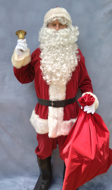 Deluxe Velvet Santa Suit for Hire from The Littlest Costume Shop in Preston