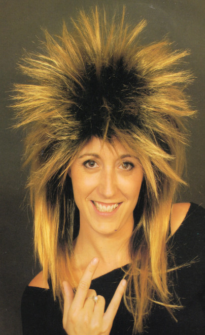 Spikey Mullet Wig in blonde with dark roots