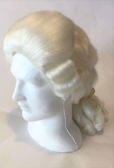 White Eighteenth Century Men's Wig for Hire