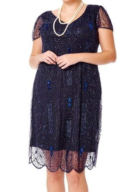 Beaded Flapper Dress for Hire - Size 28