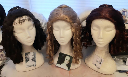 Wigs styled for Moliere's Tartuffe.