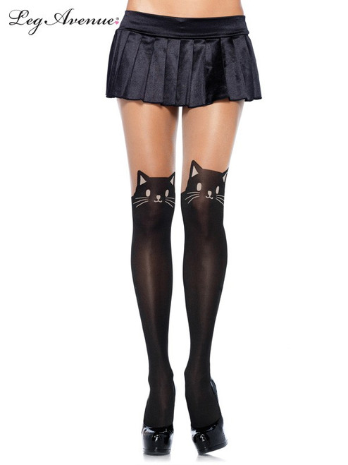 Leg Avenue Cat Face sheer tights.