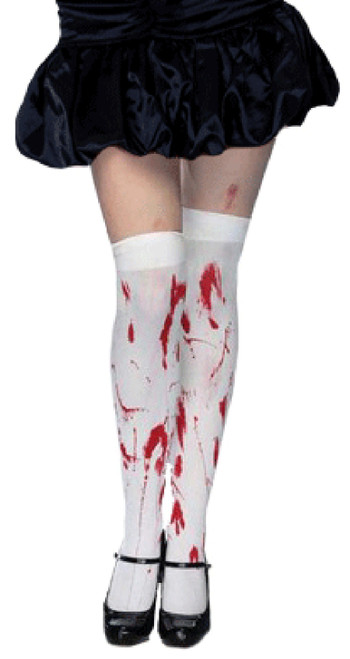 Bloody White Thigh High Stockings
