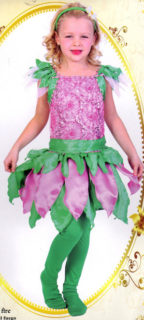 Children's Fairy Costume in Pink and Green