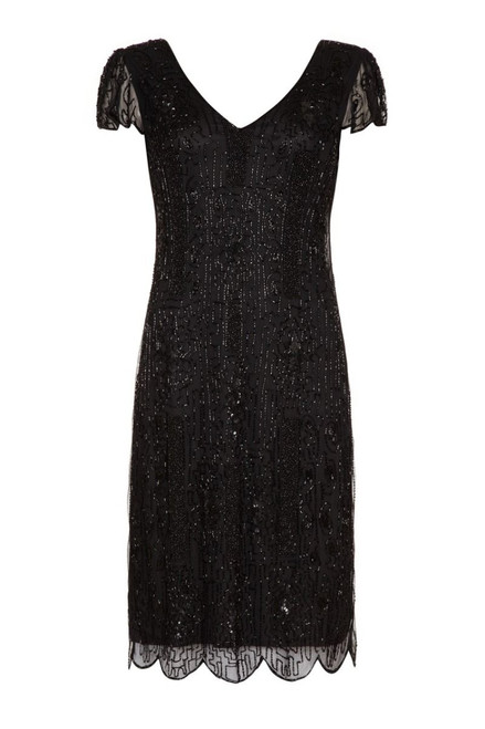 Size 28 Black Gatsby Dress for Hire from The Littlest Costume Shop in Preston