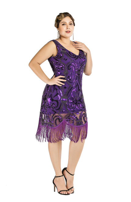 Purple 1920s dress for Hire from The Littlest Costume Shop in Preston